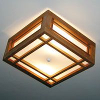 Idaho wood craftmans style square ceiling light front porch idaho wood craftmans style square ceiling light mozeypictures Image collections
