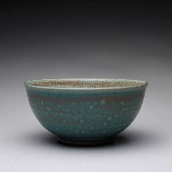 handmade pottery bowl ceramic bowl with satin by rmoralespottery, $20.00