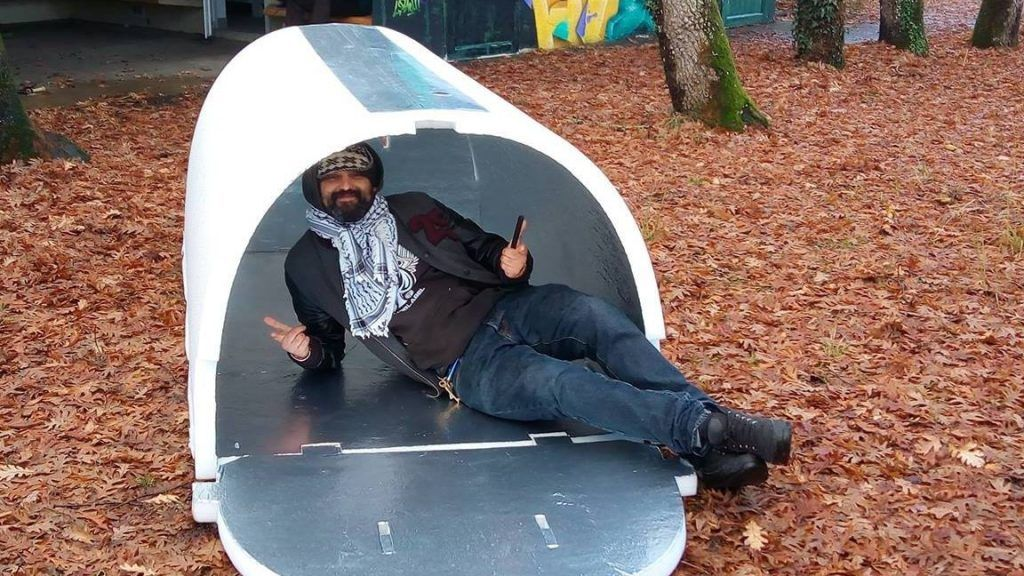Engineer designs igloo shelters to keep homeless warm in