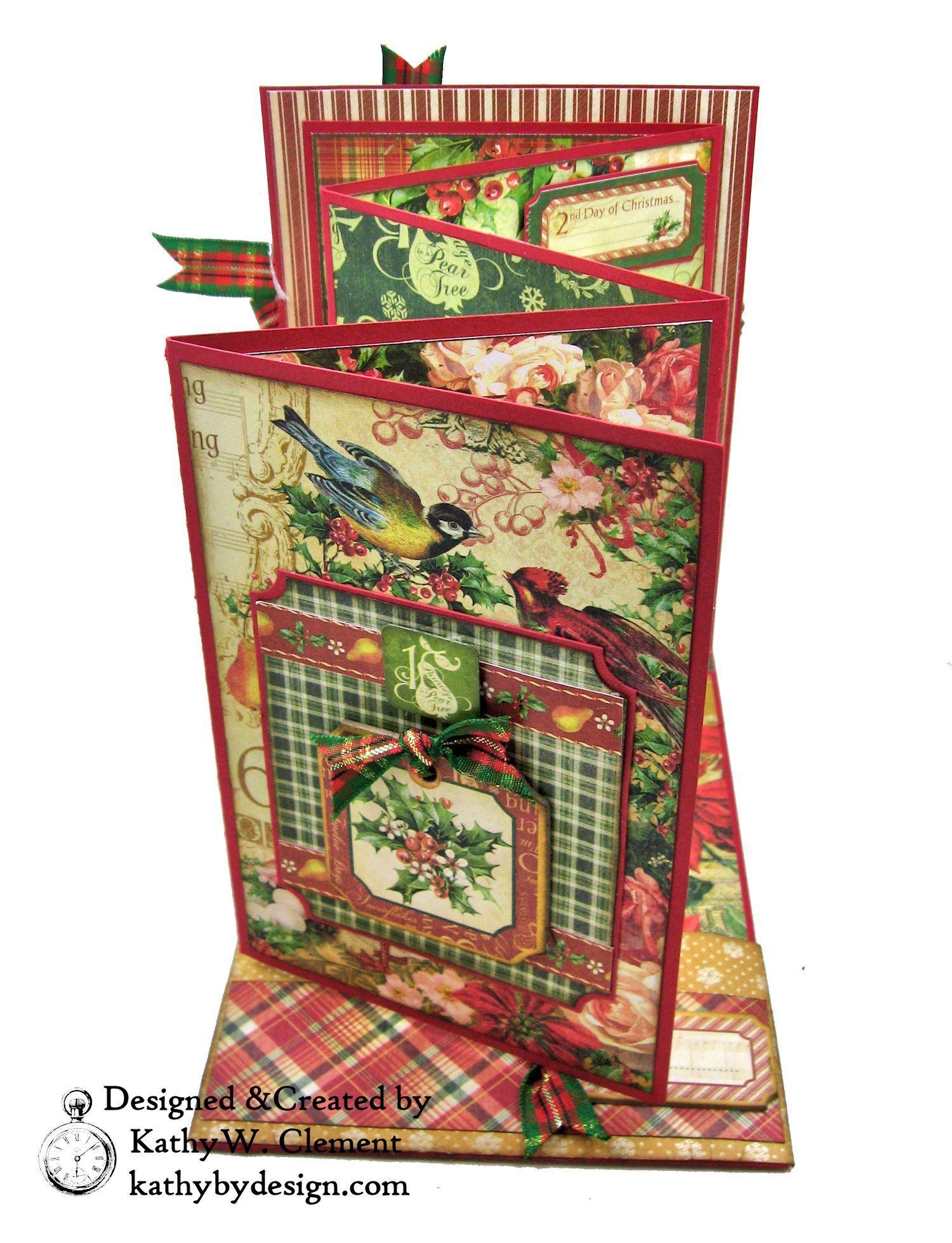 Graphic 45 Twelve Days of Christmas Card Folio Tim Holtz Laurel ...