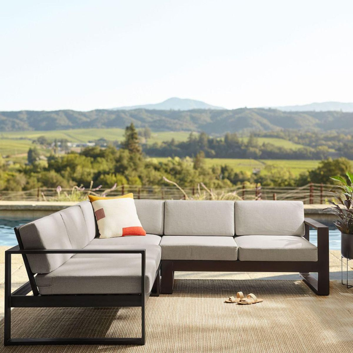Portside Aluminum Outdoor 3Piece Sectional west elm