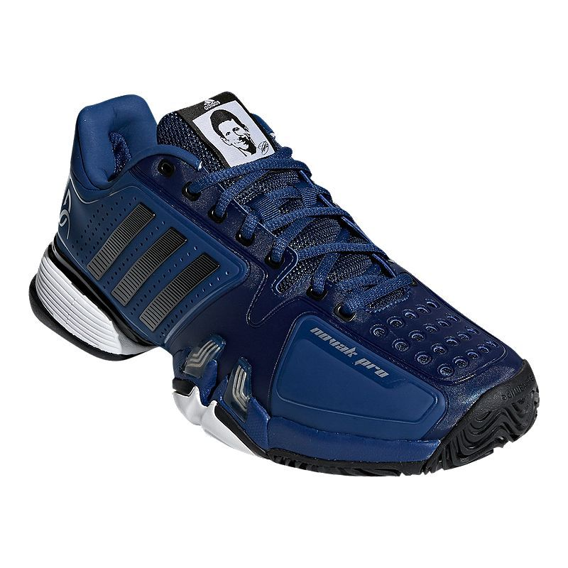 adidas Men's Novak Pro Tennis Shoes BlueBlackWhite