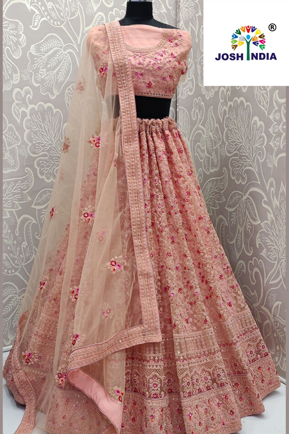 Latest Baby Pink Color Net Lehenga Choli For Indian Bridal In 2020 Designer Bridal Lehenga Designer Lehenga Choli Indian Bridal Dress