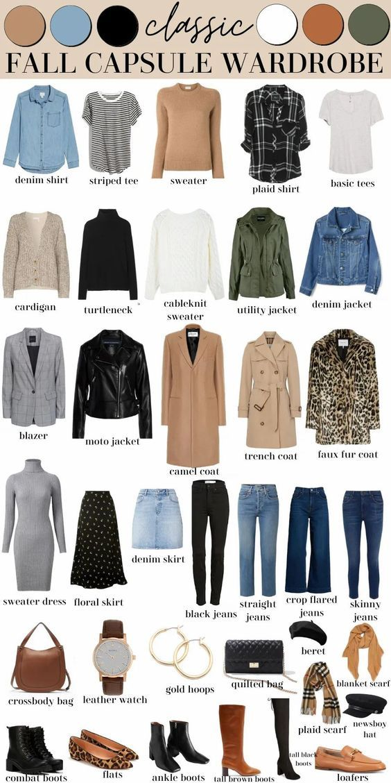 Classic Fall Capsule Wardrobe (Shopping List, Outf