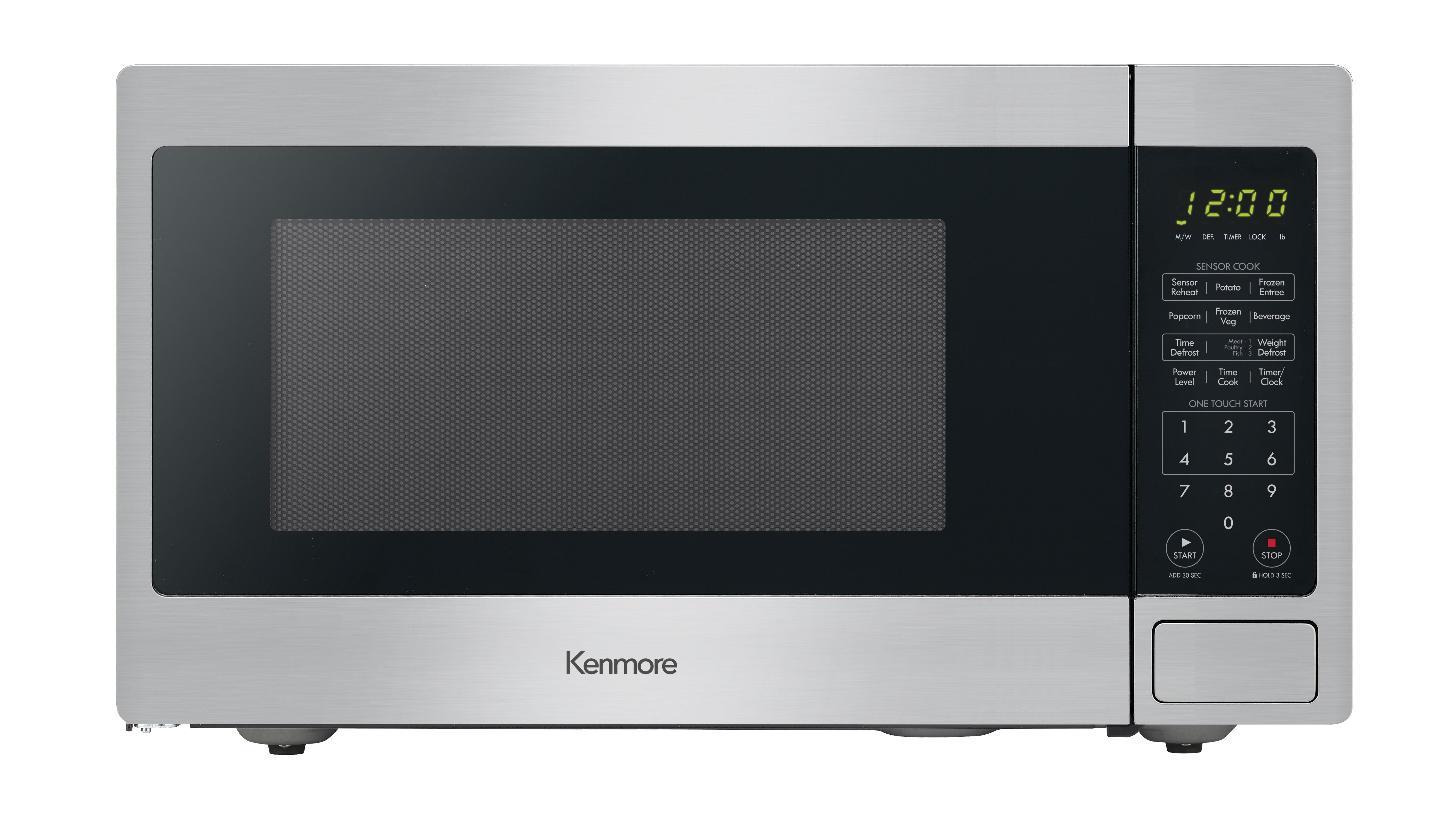 Kenmore 71313 1 3 Cu Ft Countertop Microwave Oven Stainless Steel Stainless Steel Countertop Microwave Kenmore Microwave