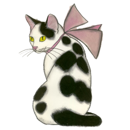 Cat With Bow By Psychopsyche Cats Illustration Cat Drawing Cat Art