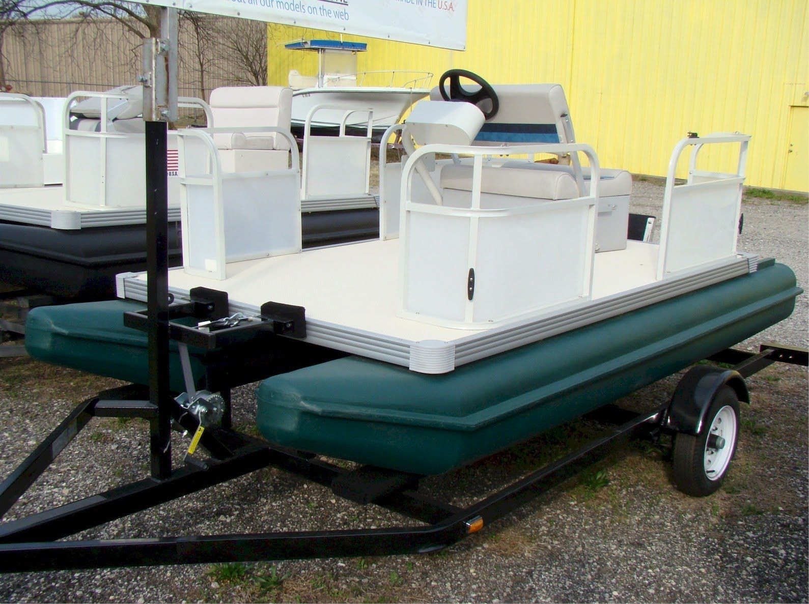 Sunny days poly 118a mini pontoon boat youtube stuff for Mini fishing boats
