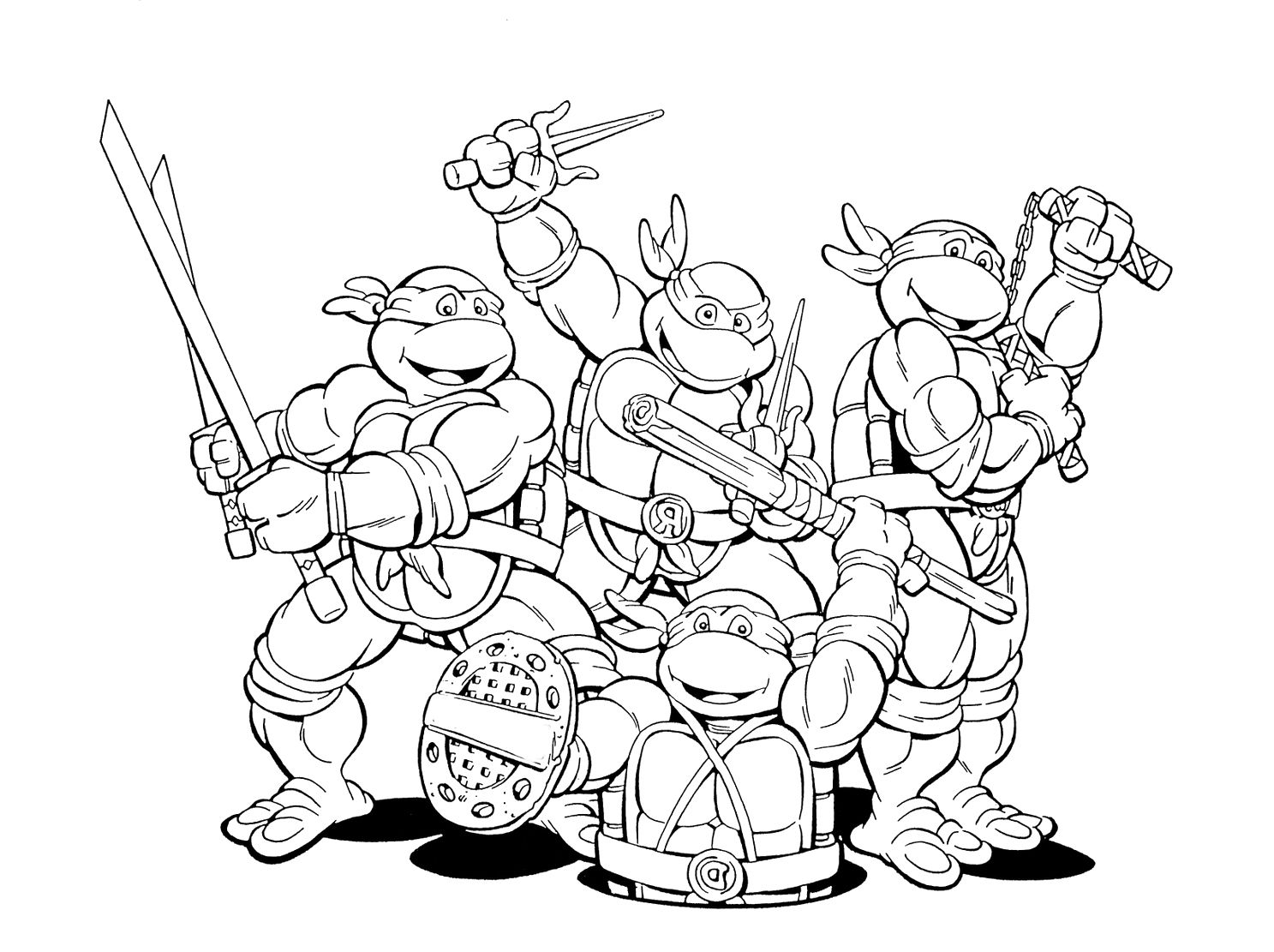 Cute Ninja Turtles Printable Coloring Pages Kolorowanki