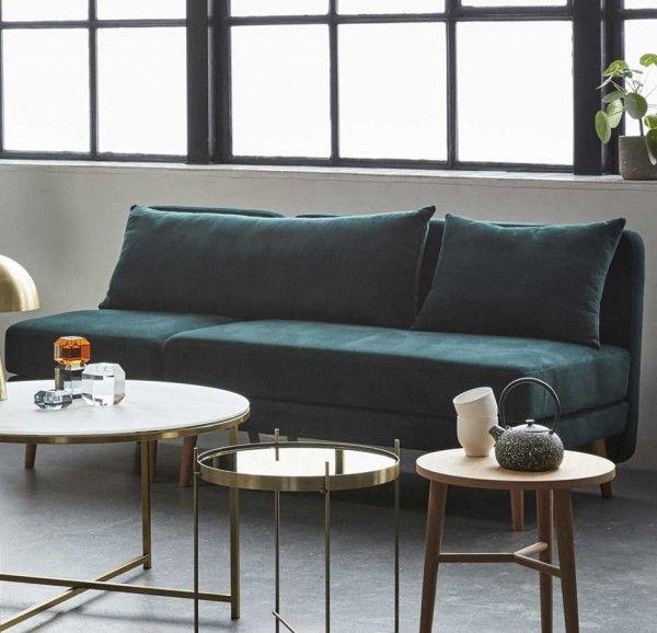 Skandinavisches Sofa, grün #skandinavischwohnen