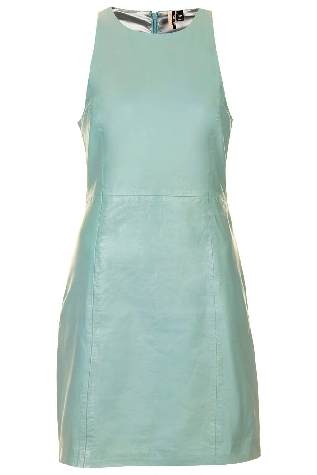 Premium Leather Cut-Away Shift Dress - Dresses - Clothing - Topshop ...