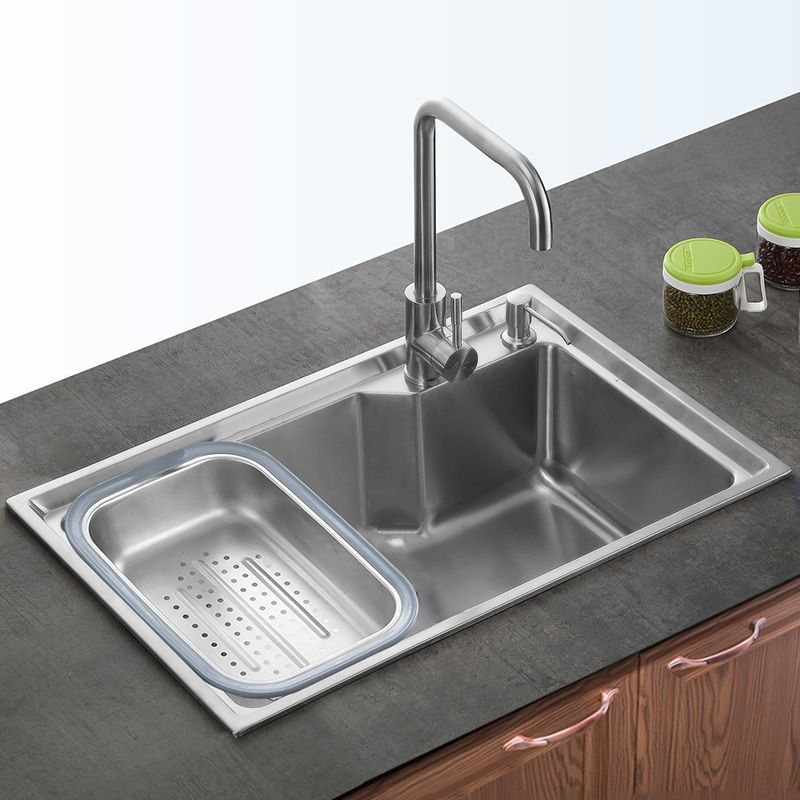 Buy Kitchen Sink Single Bowl 304 Stainless Steel Sink Topmount