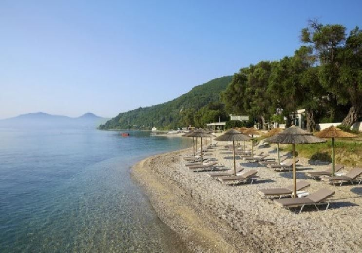 The Beach At Marbella Corfu Hotel In Agios Ioannis Peristeron Greece