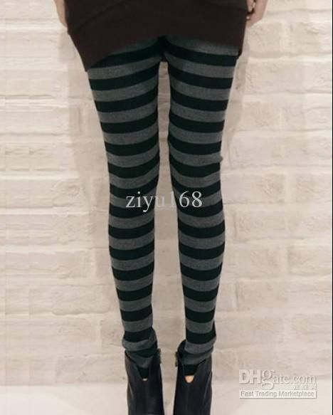 a3492c51153ed Black And Gray Striped Leggings | leggings | Striped leggings ...