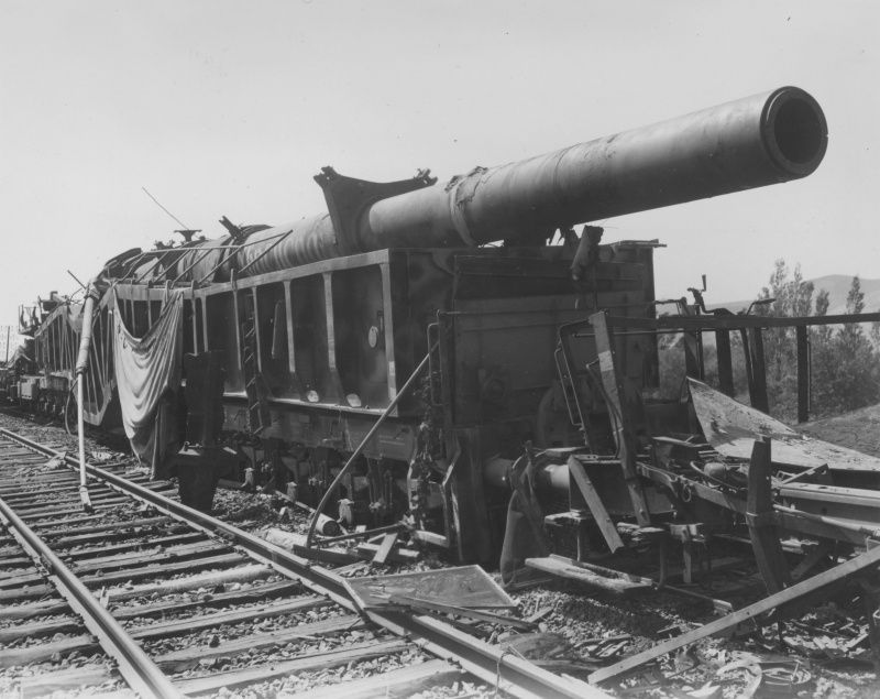 German 340 mm cannon railway 'Big Bertha' broken artillery ...