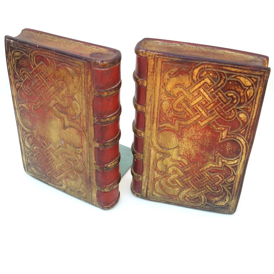 Book Ends Borghese Chalkware Bookends