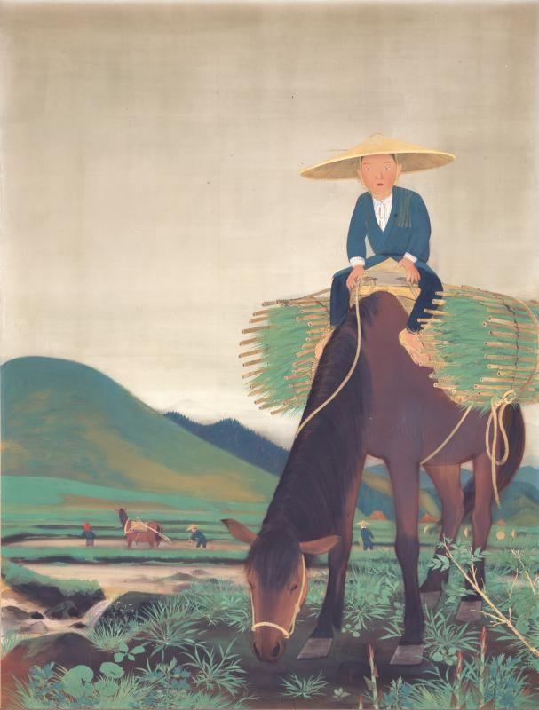 福田豊四郎 Toyoshiro Fukuda《早苗曇り》 1930年