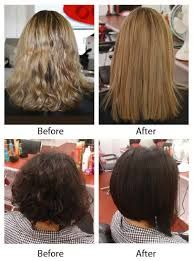 Relaxed Hair Before And After Google Search Relaxed Hair Hair Straightening Treatment Straight Hairstyles