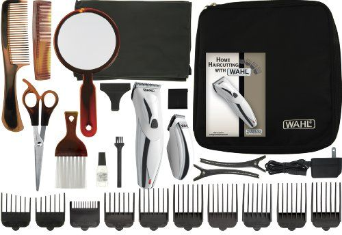 Wahl 9639 300 Charge Pro 26 Piece Haircut Kit 26 Piece Complete Haircut Kit Makes Haircutting At Home Even Easier Contains A Rechargeable Clipper And Cordless
