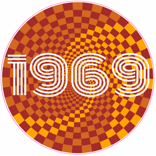 1969 psychedelic circle sticker u s custom stickers
