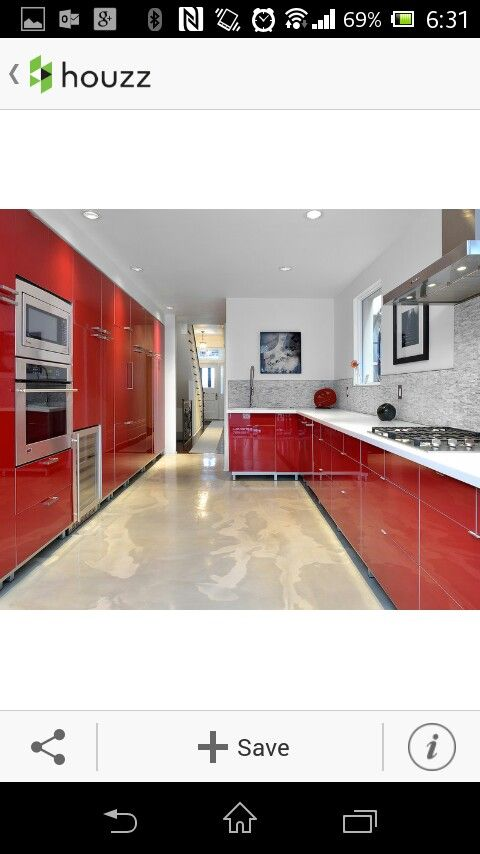 Houzz cocina roja | deco | Pinterest | Baldosa, Cocinas y Rojo