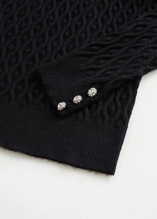 Photo of Knitted braided sweater –  Woman | Mango Greece