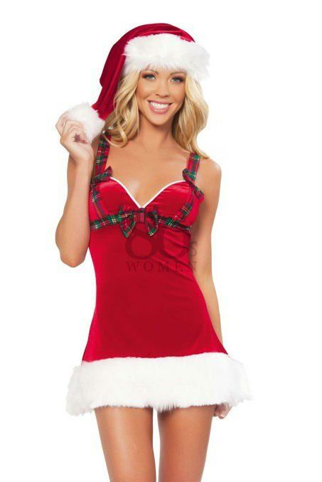 300bdeb5d2b84 HOT Red Sexy christmas costumes dress women santa costume outfit ...