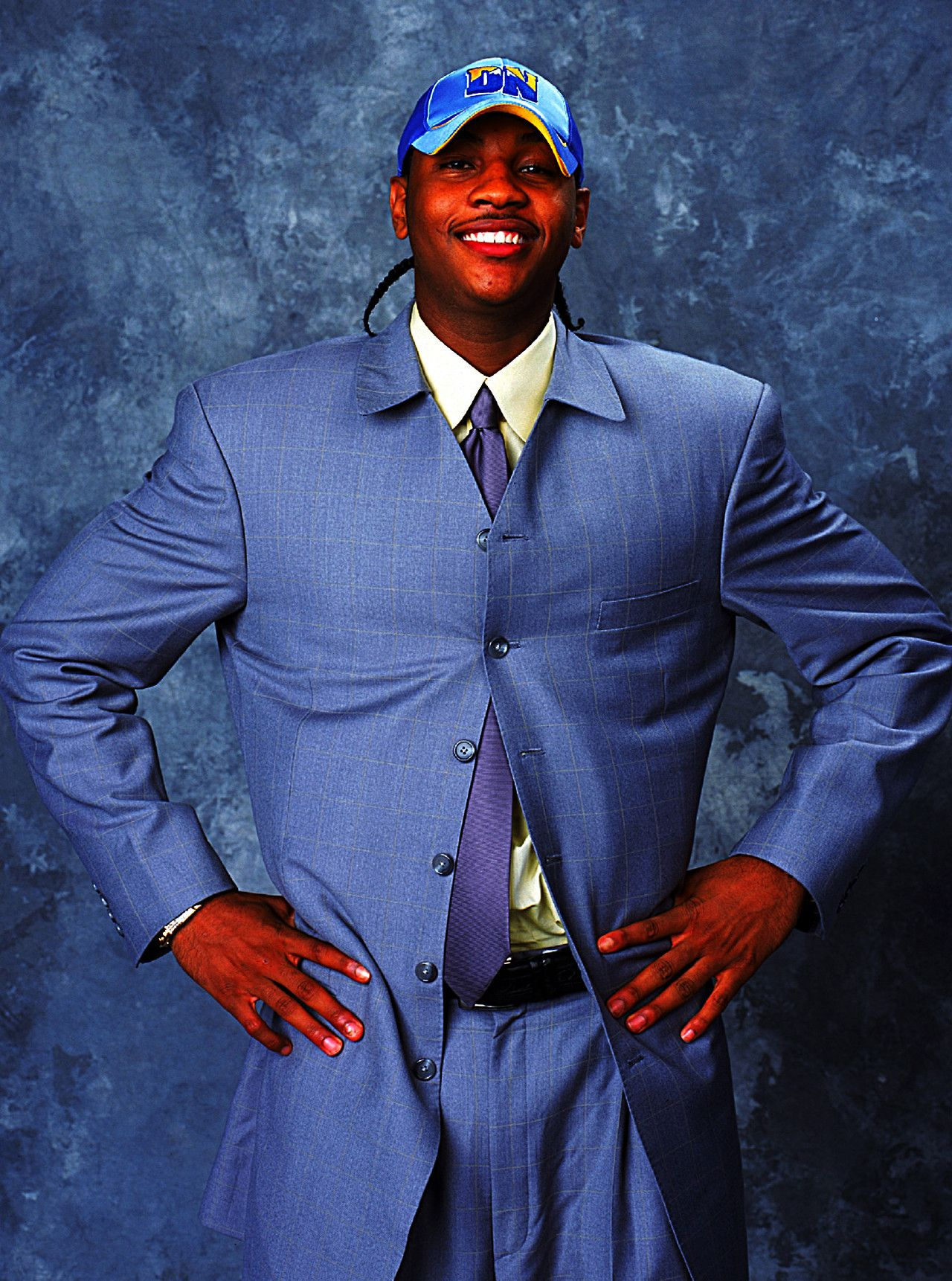0285f0d996a Carmelo Anthony on draft night - most ridiculous suit ever.