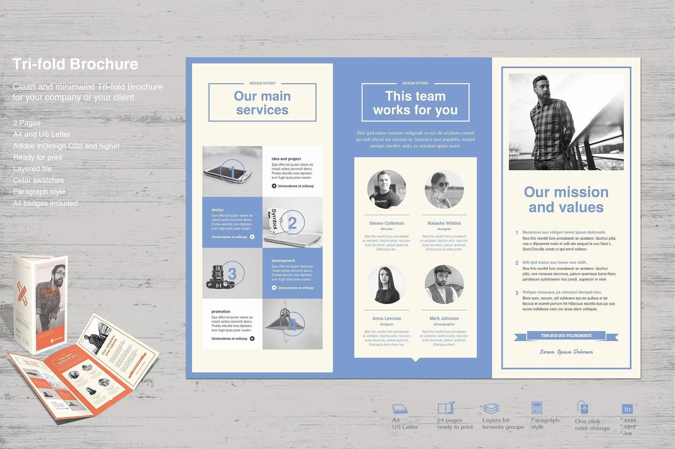 Adobe Indesign Resume Template Awesome Free Minimalist Resume Template Example In 2020 Brochure Design Template Free Brochure Template Brochure Templates Free Download