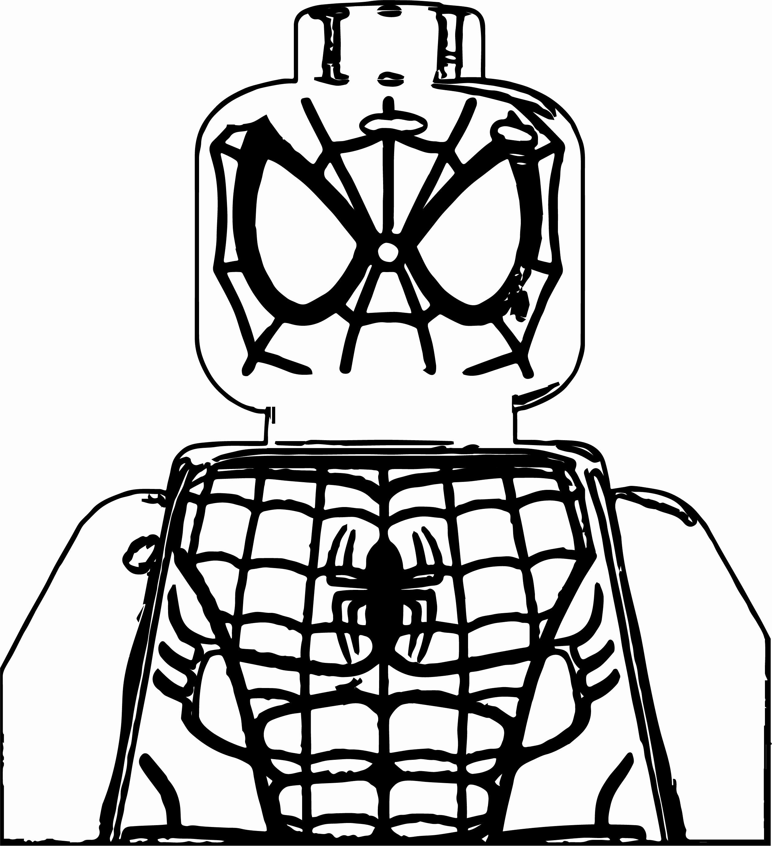 Lego Spiderman Coloring Page Lovely Lego Spider Man Coloring Page