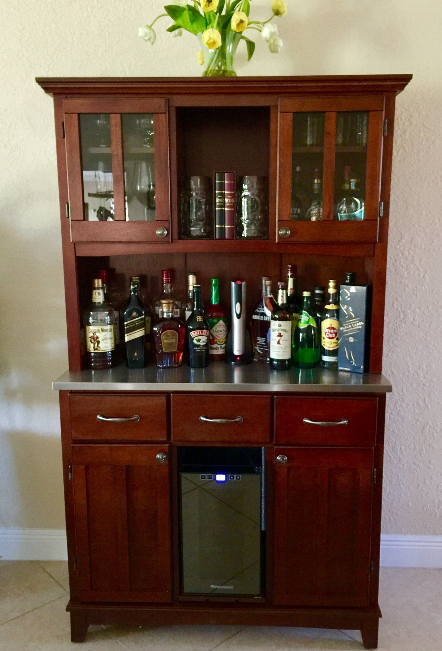 Farm Buffet Liquor Cabinet Stores all of our liquor, Stein, Wine ...
