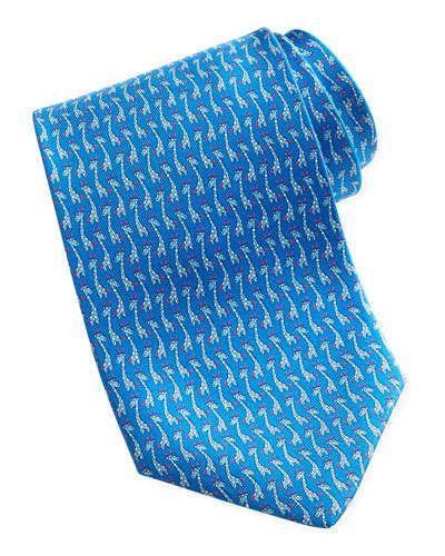 2f0a5c22 Salvatore Ferragamo Giraffe-Print Silk Tie, Blue   Neckwear, 2019