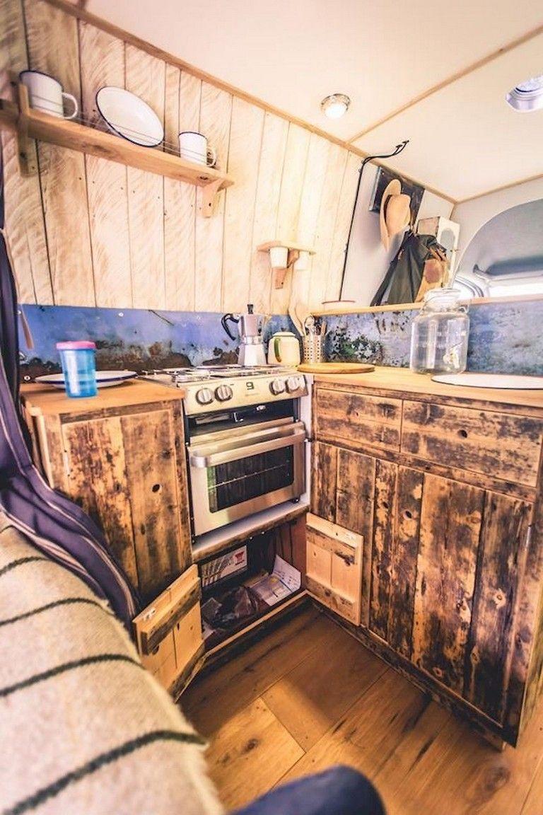 Inspiring RV Camper Van Interior Design and Organization Ideas