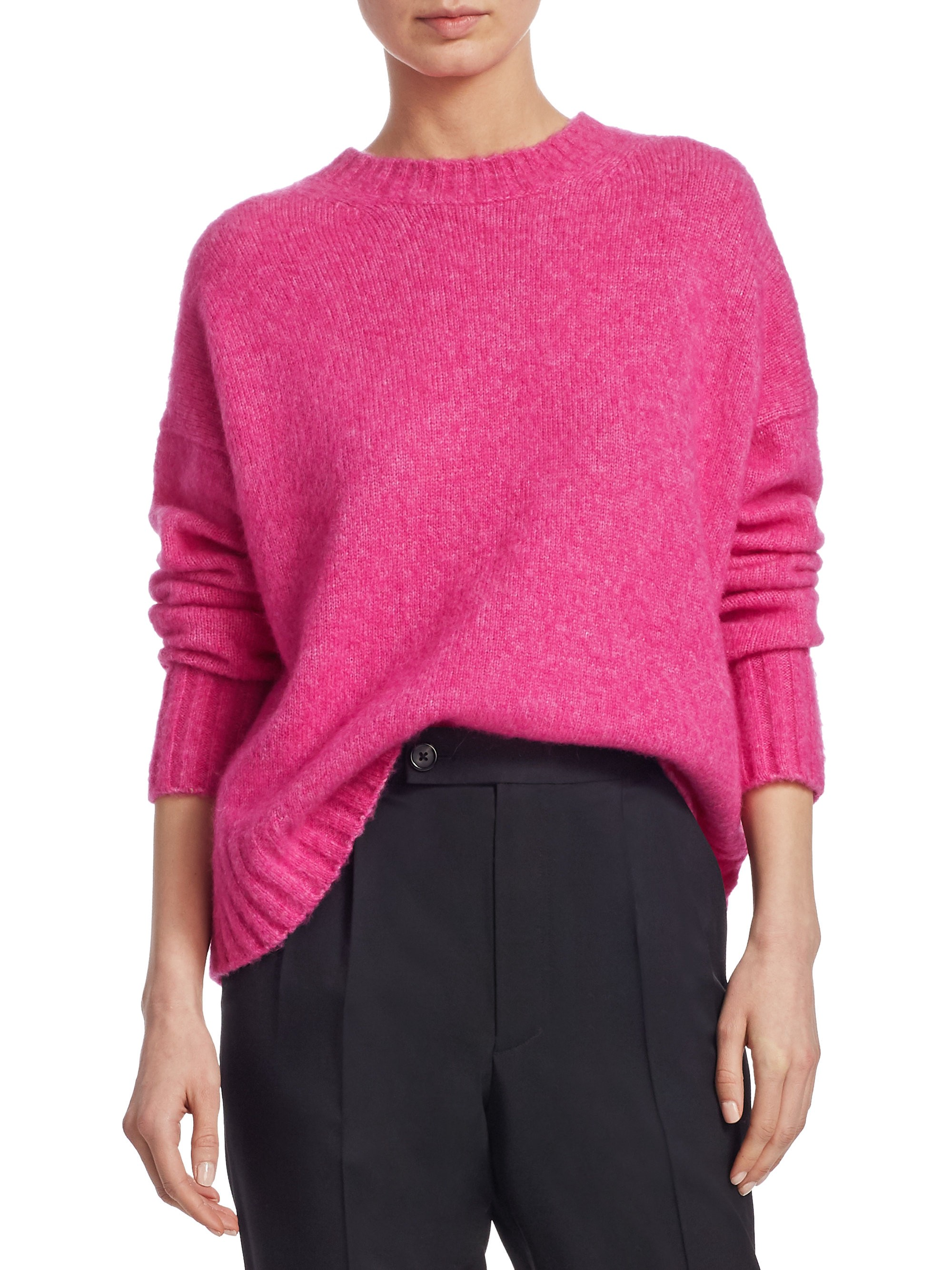 ef9a75f95d Helmut Lang Brushed Wool Crewneck Sweater - Gum X-Small