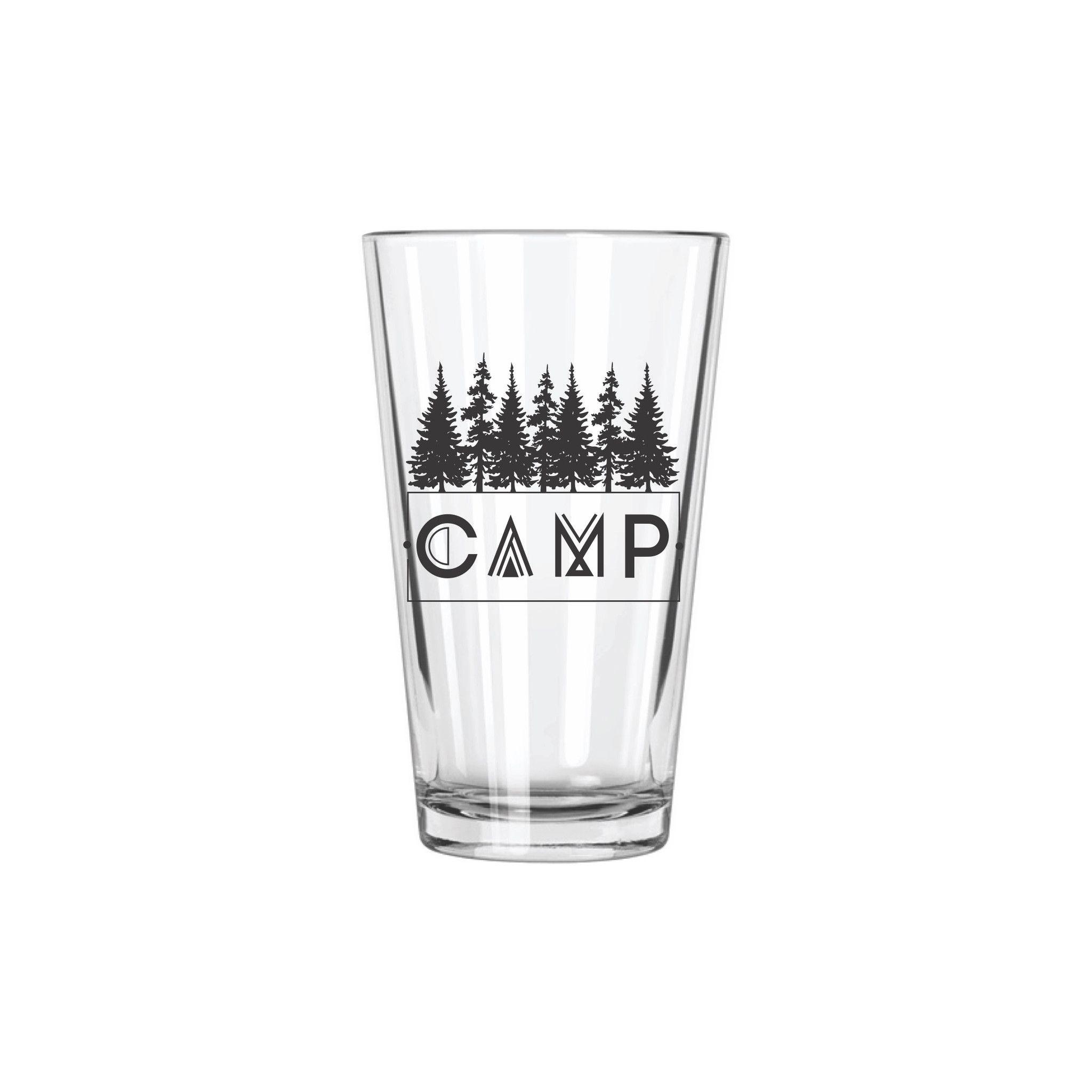 b3c61c287ce Camp Pint Glass   SHOP Home Decor + Design   Glass, Pint glass, Safe ...