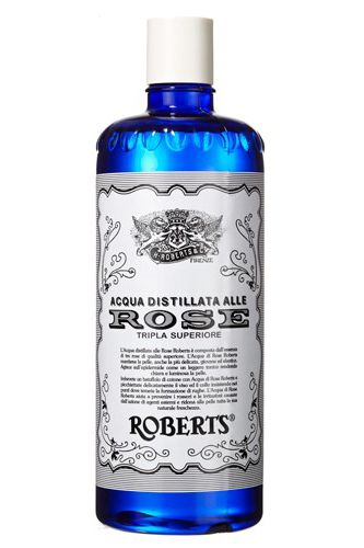 Based on a 150-year-old formula, this gentle toner hydrates and soothes the skin with centiflora rose petals distilled in spring water. H. Roberts & Co. Acqua Distillata Alle Rose, $10, available at C.O. Bigelow.