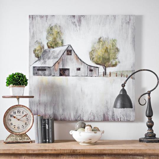 This Barn And Pasture Canvas Art Is Perfect For Modern Farmhouse Decor Farmhouse Artwork Farmhouse Paintings Farmhouse Art