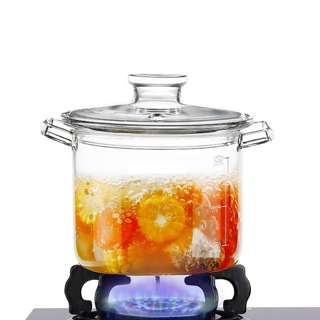 Transparent Pyrex Glass Cooking Pot Super Cool Cool