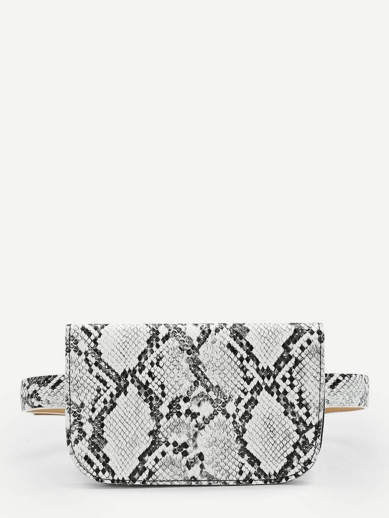 978171f5e01 Snake Print Waist Bag in 2019 | Vanity Rose | Bags, Bum bag, Snake skin