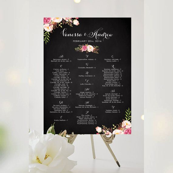 #Weddings #seating #chart #printable #signs #template #affordable #blooms #decorative