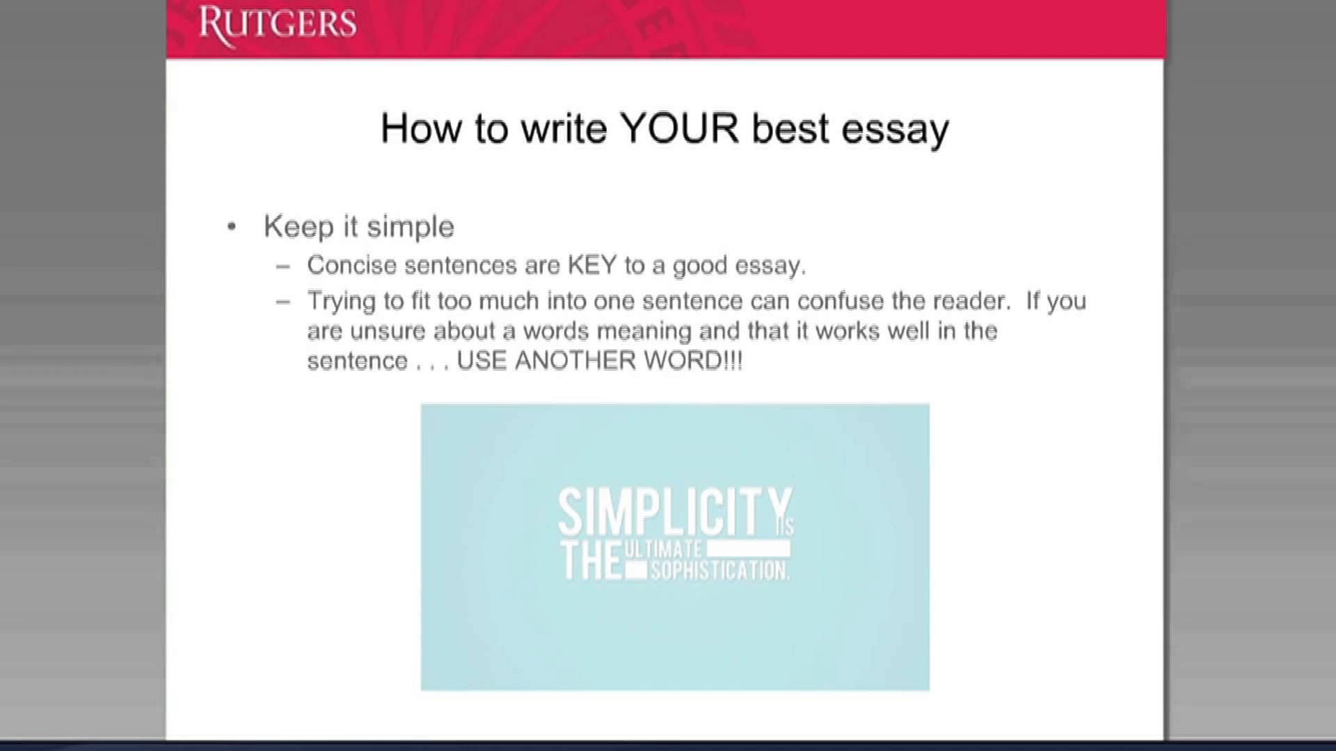 Learn How To Write A Successful Personal Essay When Applying U S Universities Rutger University
