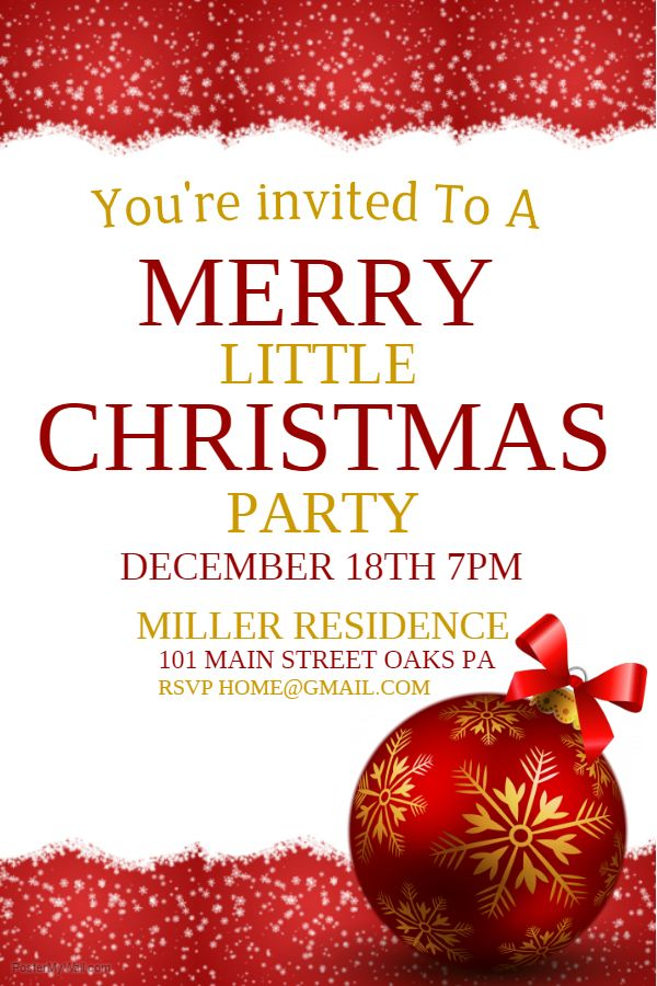 Merry Christmas Party Poster Christmas Poster Templates
