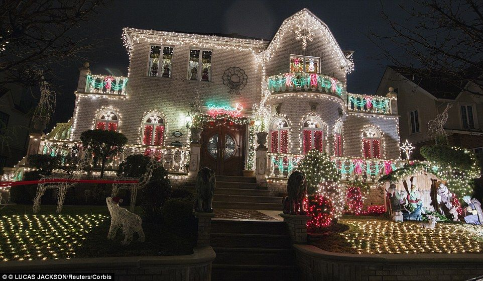 most of the elaborate decorations are erected not by homeowners but by local decorating companies including br christmas decorators and creative