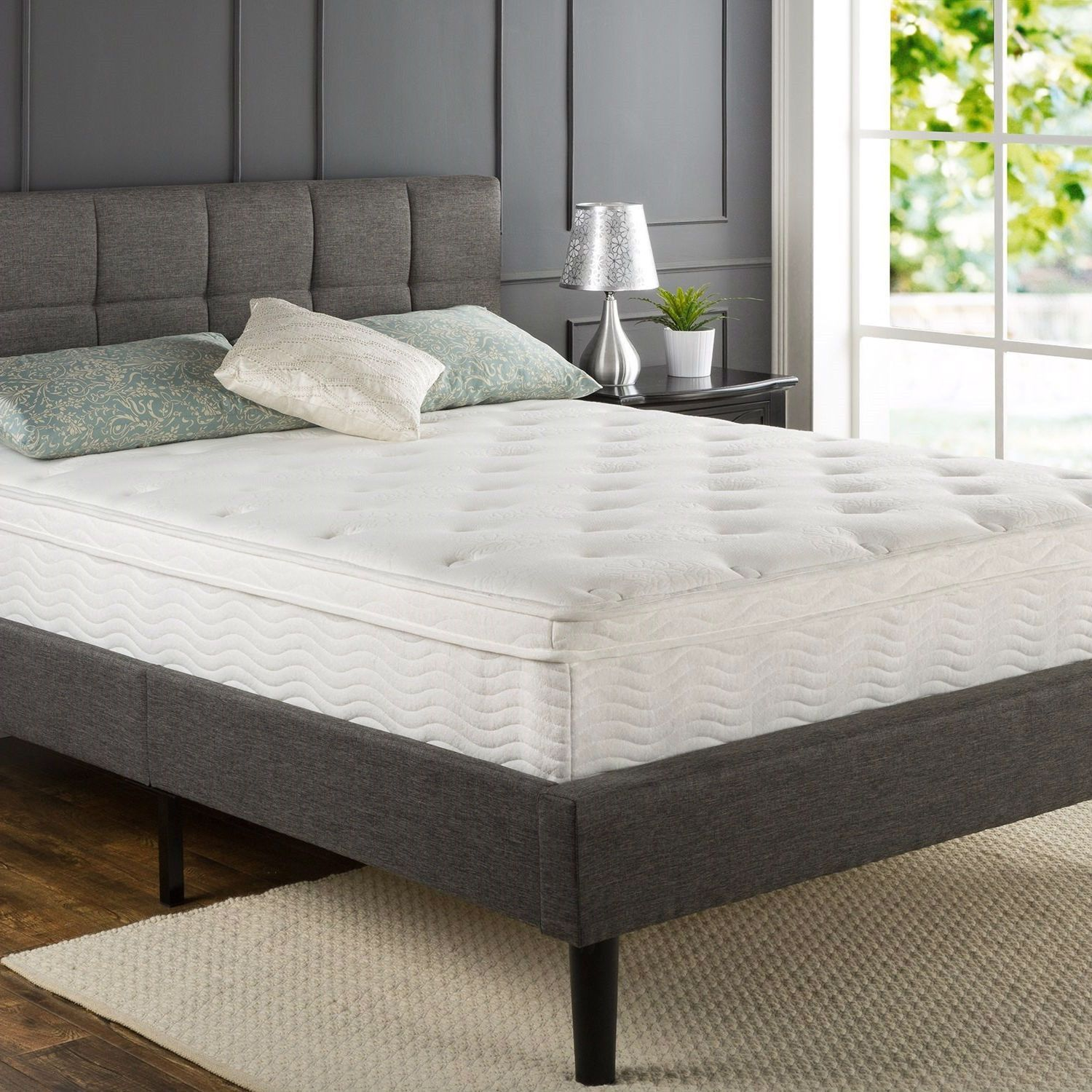Queen size 12inch Thick Euro BoxTop Innerspring Mattress