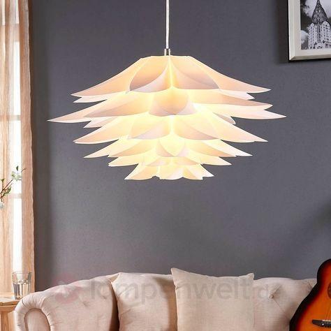 Hängeleuchte Rimon Lampenwelt Kunststoff Weiß Gemütlich - wohnzimmermobel weis