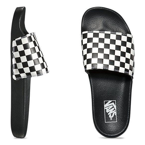 mens vans checkerboard slides
