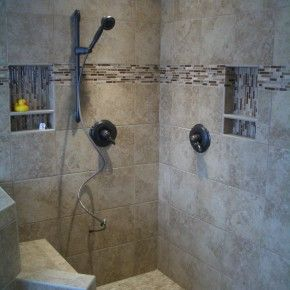 Bathroom Inspiration. Excellent White Ceramic Wall Tile Combine ...