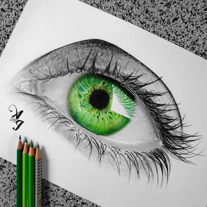 Drawing Pencil Aleksandar Ilic Eye Drawing Eye Art Color