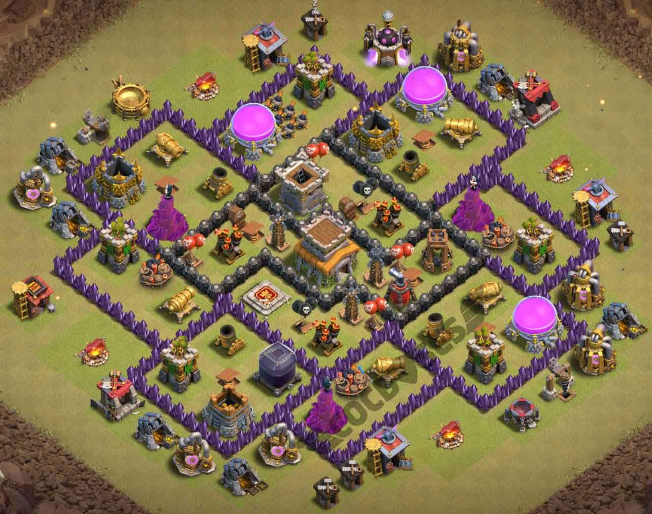 Anti Everything Coc Th8 Best Base 3
