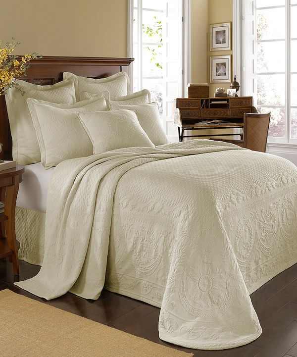 Take a look at this Ivory Matelassé Bedspread on zulily today!