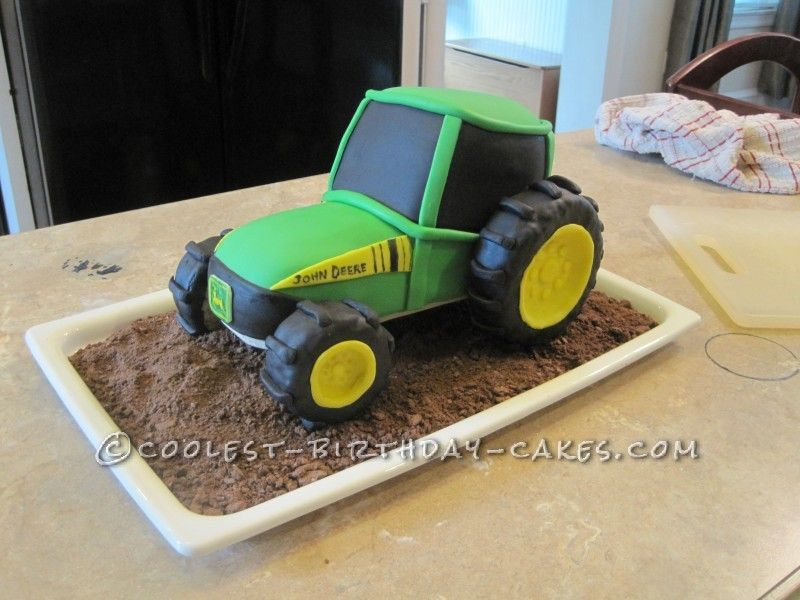 Coolest John Deere Tractor Cake for 2 Year Old Boy Tractor